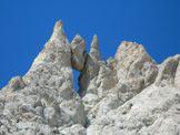 Via Normale Monte Prena - La caratteristica roccia incastrata del Prena
