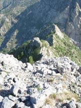 Via Normale Monte Toraggio - Cresta di salita.