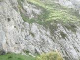Via Normale Monte Pietravecchia - Cresta WNW - La breve parete  da risalire.