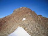 Via Normale Cima San Giacomo - Il colletto nevoso e l´ultimo tratto di cresta SE