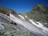 Via Normale Piz Platta - Sulla costola rocciosa della cresta E del Talihorn, a destra il Piz Platta