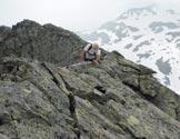 Via Normale Piz de Val Rossa - Tratto di cresta