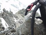 Via Normale Piz de Val Rossa - La cresta di salita dalla vetta.