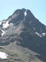 Via Normale Monte Gaviola - Vista frontale salendo