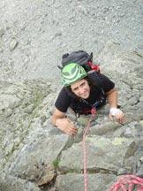 Via Normale Monte Sarezza - Spigolo NW - In parete
