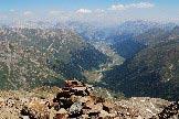 Via Normale Monte Vago - Splendido colpo d´occhio sulla vallata di Livigno