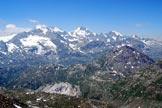 Via Normale Monte Vago - Dalla cima, splendida vista del gruppo del Bernina