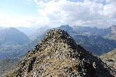 Via Normale Punta Orsera - La Cresta Ovest dalla sella sotto la cima.