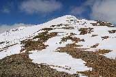 Via Normale Monte Breva (o Piz La Stretta) - L'ultimo tratto della salita