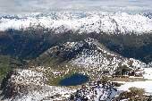 Via Normale Monte Breva (o Piz La Stretta) - Vista sul Lago del Monte dalla cima