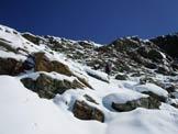 Via Normale Tschima da Flix - Aggiramento sulla cresta SW del Piz d´Agnel