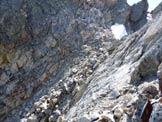 Via Normale Piz Viroula - Il colletto fra le 2 cime
