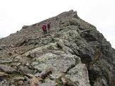 Via Normale Torrione d´Albiolo - La cresta verso la cima