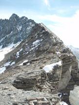 Via Normale Talihorn - La Bargglafurgga dalla cresta di salita