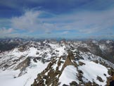 Via Normale Piz Grialetsch - Panorama verso W dalla vetta