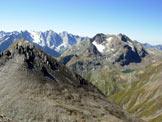 Via Normale Piz Turba - Panorama di vetta verso SSW