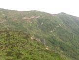 Via Normale Monte Misa - Il sentiero in diagonale sotto la cima