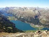 Via Normale Piz Surlej - Il panorama sui laghi dell�Alta Engadina