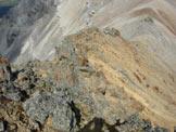 Via Normale Monte Cornaccia - Scendendo dalla spalla SE, verso la vetta