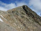 Via Normale Pizzo di Dosdé - A sinistra il Colle del Pizzo, dalla rampa trasversale