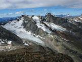 Via Normale Pizzo di Dosdé - Il panorama di vetta sulle Vedrette di Dosdé e le cime del gruppo