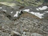 Via Normale Pizzo di Dosdé - La conca nevosa dal Colle del Pizzo