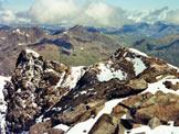 Via Normale Cima Orientale di Lago Spalmo - A destra l´anticima N, dalla vetta