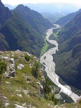 Via Normale Spirlonga - Dalla vetta verso la Val Cordevole