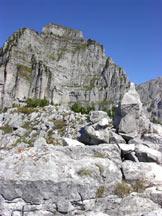 Via Normale Spirlonga - Dalla vetta verso il monte Coro