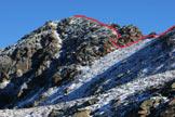 Via Normale Pizzo Filone - Il canaletto e l´ultimo tratto di cresta