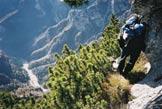 Via Normale Tiron - Aerea cengia sulla Val Medon