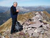 Via Normale Monte Spondone - Omino di Vetta con l�amico Gigi