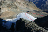 Via Normale Chüealphorn - Il Chüealp Gletscher, dalla vetta