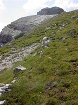 Via Normale Spigol del Palon - Sulla grande terrazza in vista della cima