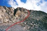 Via Normale Corno Baitone - Sotto la parete S