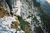 Via Normale Cima delle Coraie - Sulla Cengia Longa Alta