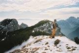Via Normale Cima delle Coraie - Dalla cima verso la Palazza e il Mont´Alt