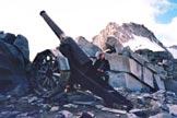 Via Normale Cima Giovanni Paolo II - versante NW - La sella con il Cannone dell�Adamello
