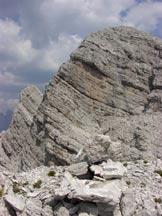 Via Normale Cima Livia - Dalla cima verso il S.sebastiano