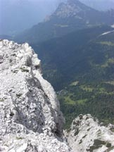 Via Normale Cima Livia - Panorama verso N