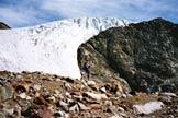 Via Normale Punta dello Scudo - La seraccata della Vedretta di Rosim