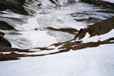 Via Normale Monte Pasquale - In discesa sul ripido pendio SE