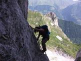 Via Normale Monte Visolo - Le scale nei tratti verticali