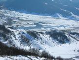Via Normale Monte Torrecane - Il Lago di Rascino visto salendo sul Torrecane