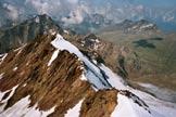 Via Normale Monte Mantello - La Cima Villacorna dalla vetta del Monte Mantello