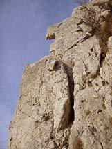 Via Normale Monte Moregallo-Cresta OSA - La spaccatura del III tiro....