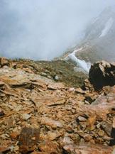 Via Normale Pizzo Varuna - La cresta SE dai pressi della vetta