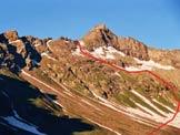 Via Normale Pizzo Sevino - L´itinerario sul versante NE del P. Quadro, dalla Valle della Sancia
