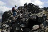 Via Normale Punta Allochet - Sulla cima
