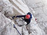 Via Normale Monte Coglians - Weg Der 26er - La prima parte verticale della ferrata
